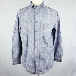 LL Bean Collared Striped Long Sleeve Dress Shirt